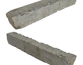 Concrete block 3D asset