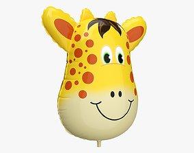 Foil decoration balloon 04 Giraffe 3D
