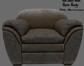 Armchair 3D asset lounge-chair