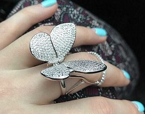 3D print model Moving Butterfly Ring