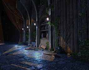 3D model VR / AR ready Dungeons and Caves - Throne Room