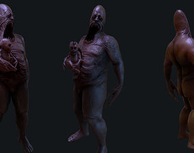3D asset Creepy Enemy ANimated