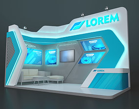 3D EXHIBITION STAND MZY 18 sqm