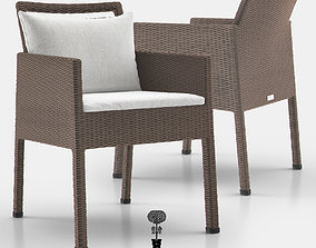 NICHE Fully Woven Armchair 3D model