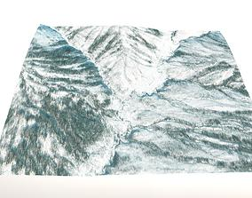 Winter Landscape in Central Alaska 3D model