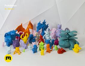 30 Lowpoly Pokemon 3D print model