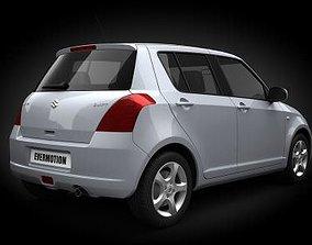 White Car Suzuki Swift 3D