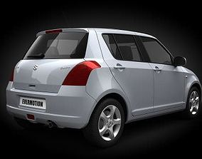 White Car Suzuki Swift 3D