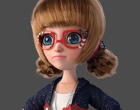 Cartoon Girl NoRig 3D