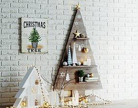 3D Christmas decor set star