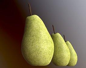 Pear 3 LODs 3D model