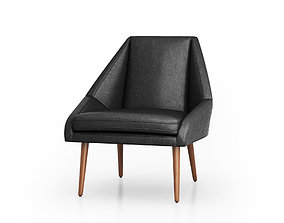 Parker Leather Slipper Chair by West elm 3D