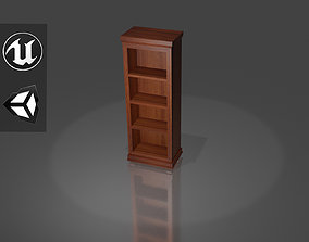 3D model VR / AR ready Book Case