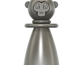 Monkey Pawn Chess Piece 3D printable model