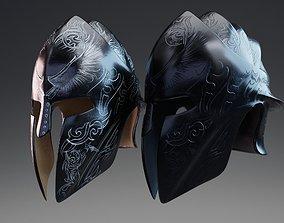 3D model Elite Guardian Helmet PBR Low Poly