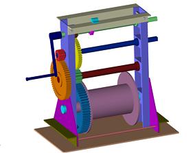 machinery Hand winch 3D