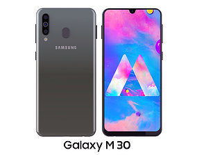 Samsung Galaxy M30 Black 3D