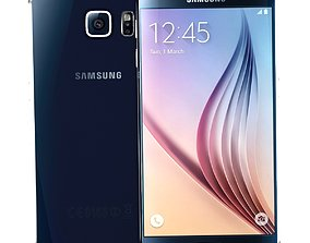 Samsung Galaxy S6 Black Sapphire 3D