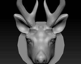 3D printable model deer face