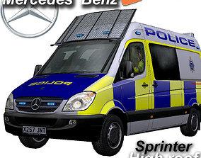 3D model Mercedes-benz Sprinter Police