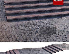 270 Platform with steps 3D asset