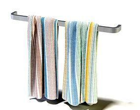 3D Aluminum Towel Rack And Colorful Towels