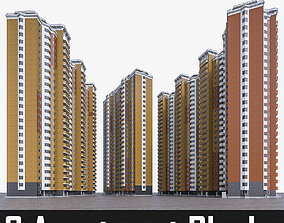 High-rise Residential Apartment Buildings 3D model