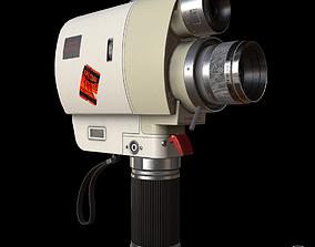 Vintage Minolta 8mm camcorder Lowpoly 3D model
