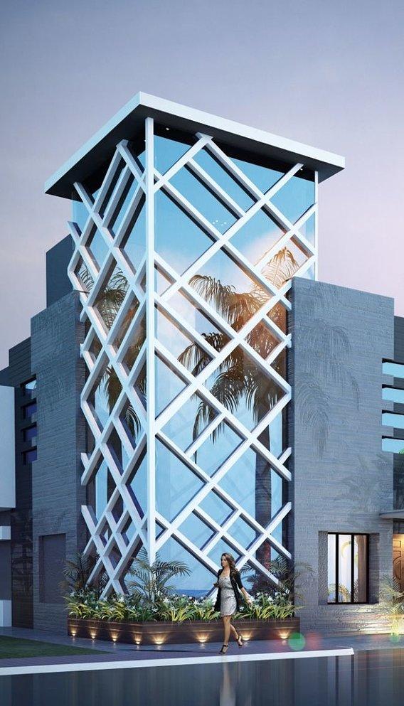 beutifull 3d design of exterior elevation of an apartment | apartment design 2021 |