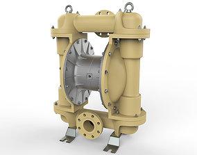 Pneumatic diaphragm pump 3D model