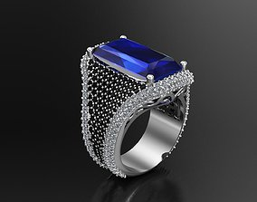 3D print model Woman Ring With Diamonds