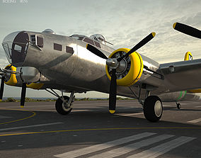 3D Boeing B-17 Flying Fortress air