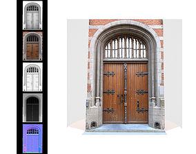 Door Wood Historic Rounded 3D model