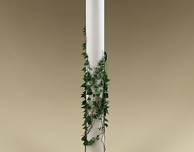 Plant and column 02 3D model