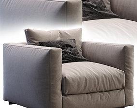 3D model furniture Flexform Armchair Magnum