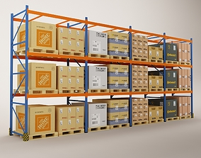 3D Warehouse Rack Storage 07