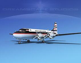 3D Douglas DC-4 Great Lakes Airlines