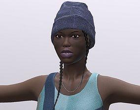 3D model black woman