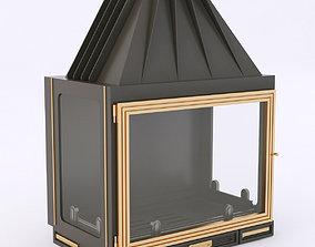 3D Seguin multivision 7000 wood stove