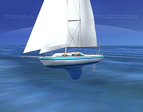 30 Foot Cutter Rigged Sloop V11 3D