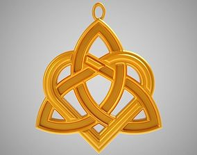 Celtic Heart Necklace 3D printable model
