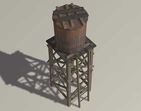 3D asset Old Water Tank
