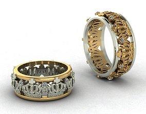 Wedding rings 3D printable model form