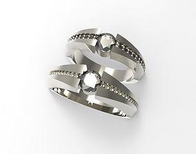 love couple rings 3D print model