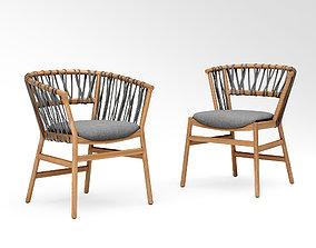 Potocco Mali chair 920 and Mali armchair 920 3D