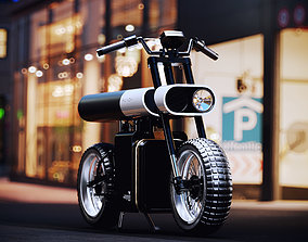 Punch Electric Motorcycle 3D Model