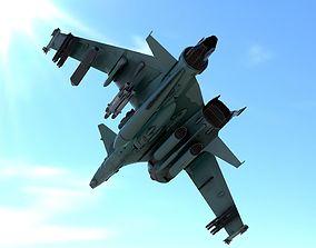 Boomerang ground attack airplane 3D asset