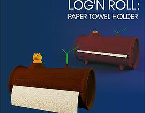 3D Logn Roll - paper towel holder