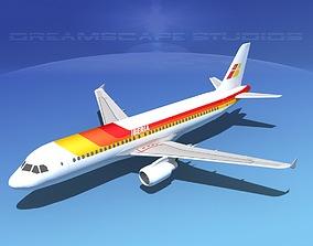 3D asset Airbus A320 LP Iberia
