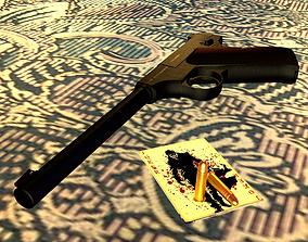 COLT WOODSMAN FIRST SERIES 3D MODEL rigged